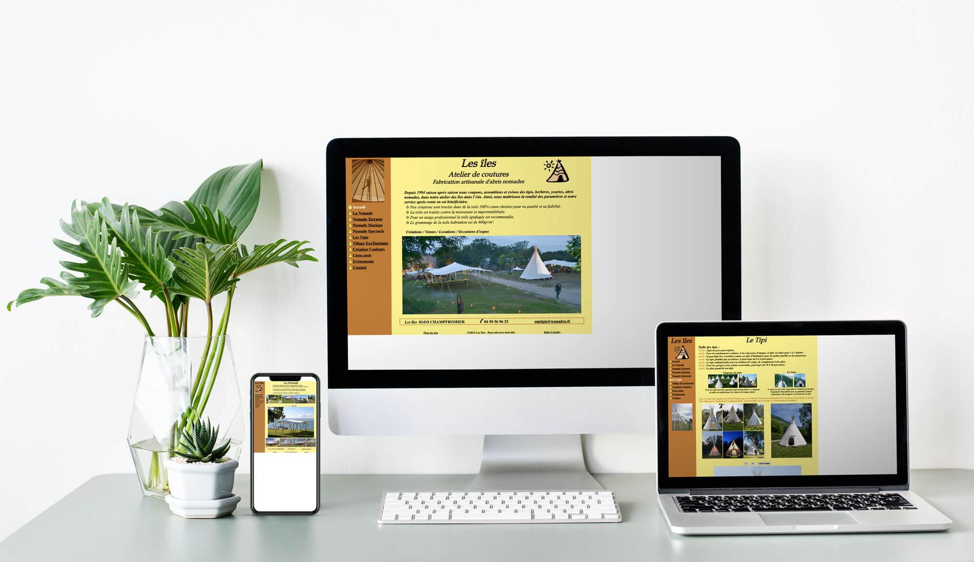 Site internet avant la refonte